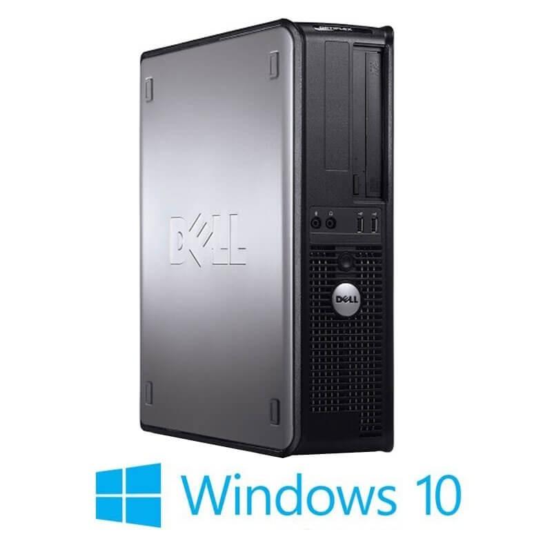 Calculatoare Dell OptiPlex 780 DT, Core 2 Duo E8400, 120GB SSD, Windows 10 Home