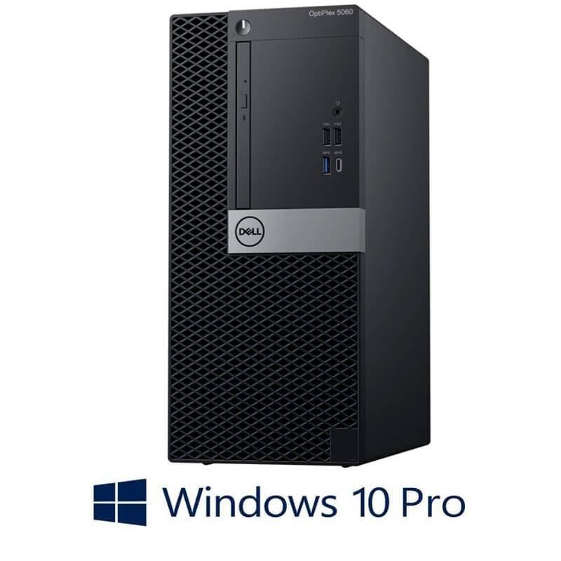 Calculatoare NOU Open Box Dell OptiPlex 5060 MT, Hexa Core i5-8500, SSD, Win 10 Pro