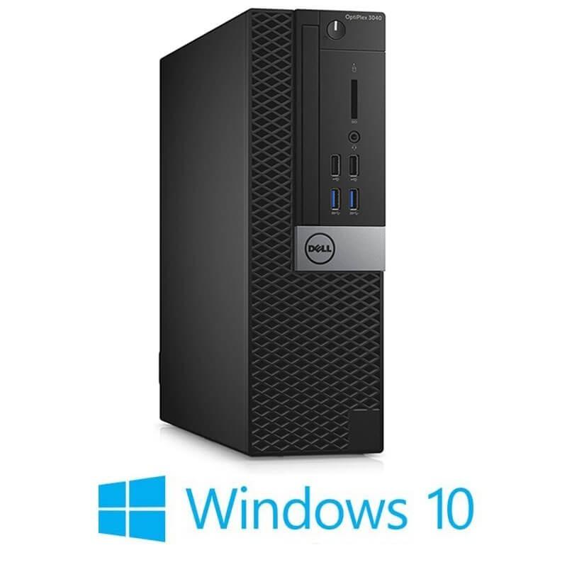 Calculator Dell OptiPlex 3040 SFF, Quad Core i5-6500T, 256GB SSD NOU, Win 10 Home