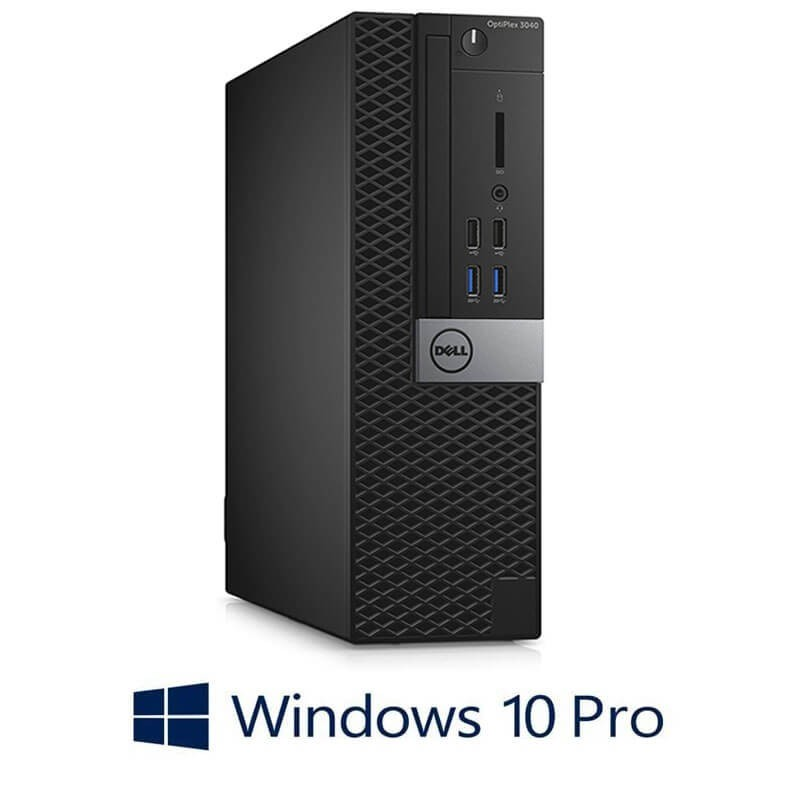 Calculator Dell OptiPlex 3040 SFF, Quad Core i5-6500T, 256GB SSD NOU, Win 10 Pro