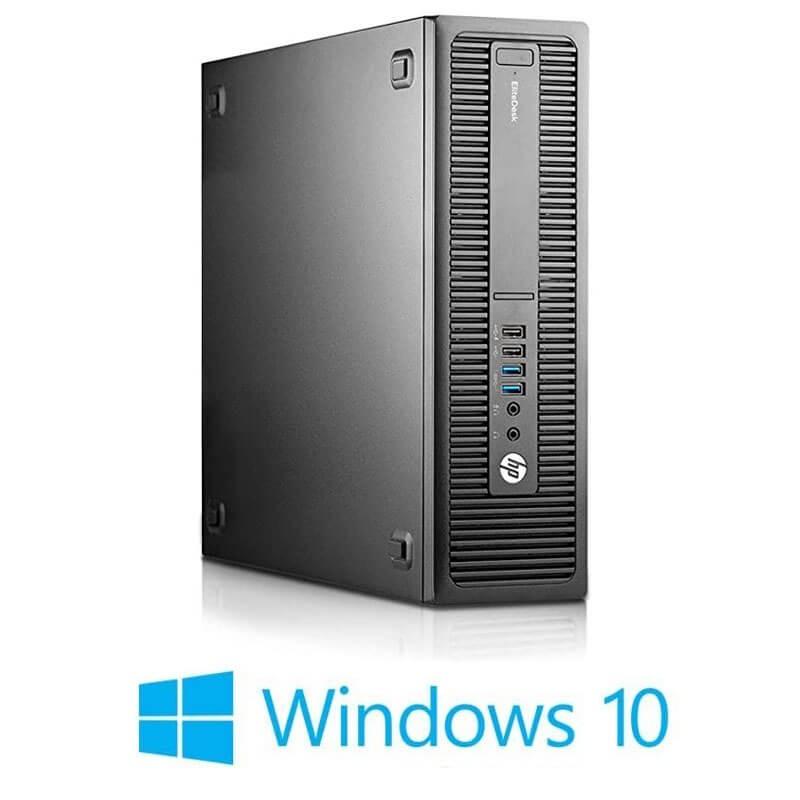 Calculator HP EliteDesk 800 G2 SFF, Quad Core i5-6600, 8GB DDR4, SSD, Win 10 Home