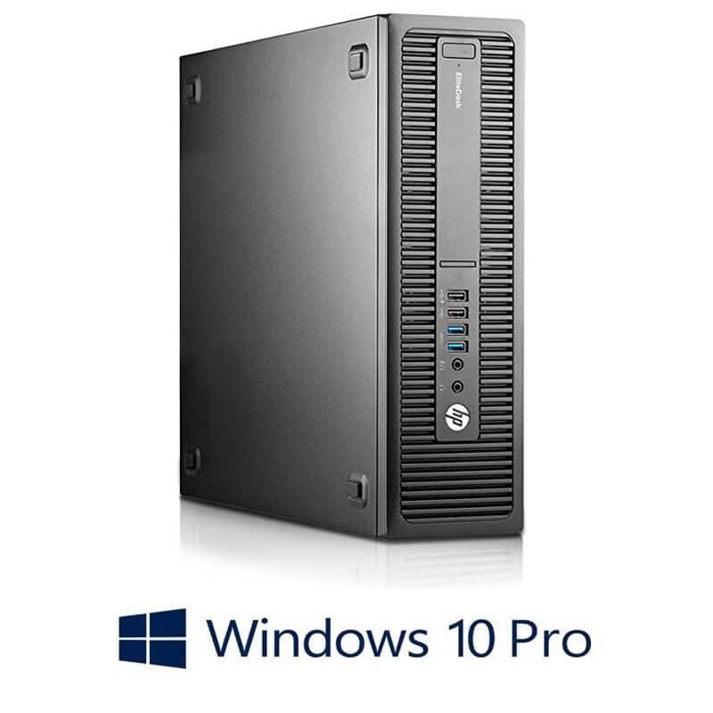 Calculator HP EliteDesk 800 G2 SFF, Quad Core i5-6600, 8GB DDR4, SSD, Win 10 Pro
