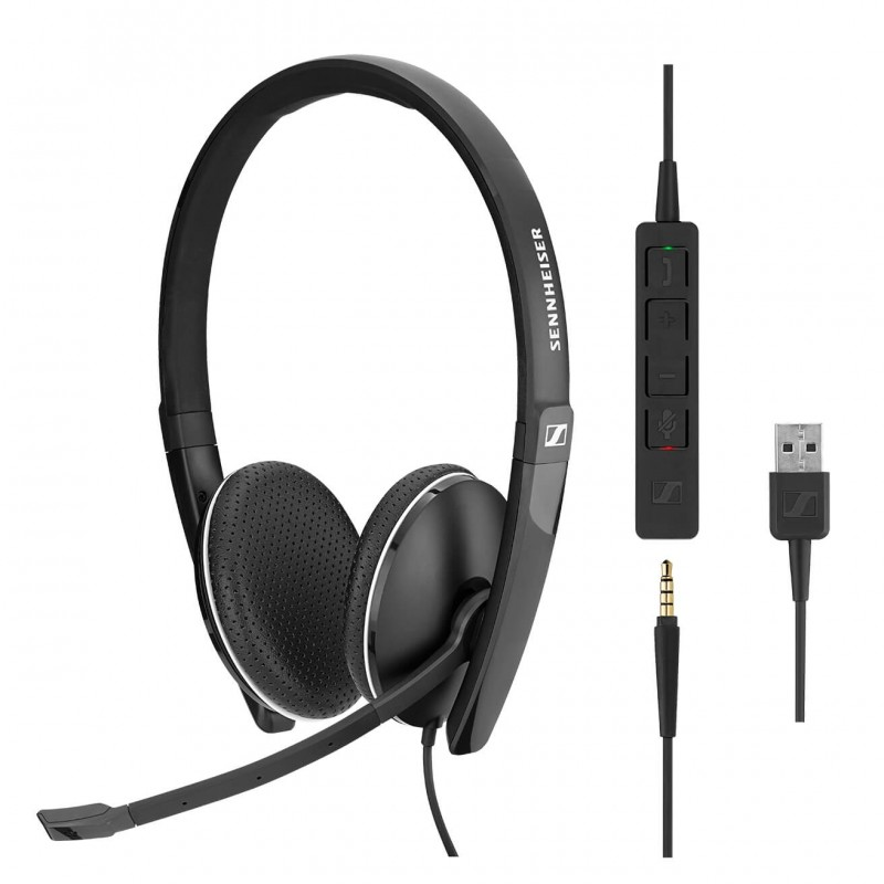 Casti Profesionale Over Ear Sennheiser SC160 Duo + Adaptoare USB