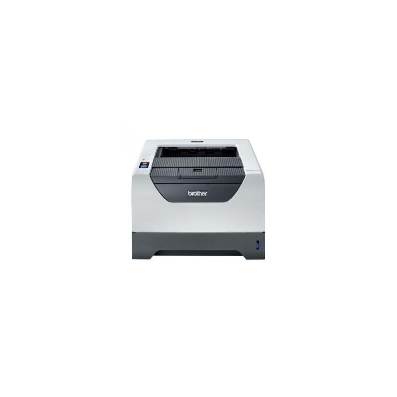 Imprimanta laser alb-negru Brother HL-5340D, Toner full, Cuptor reconditionat