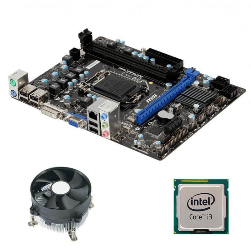 Kit Placi de baza MSI H61M-P31, Intel Core i3-3220, Cooler