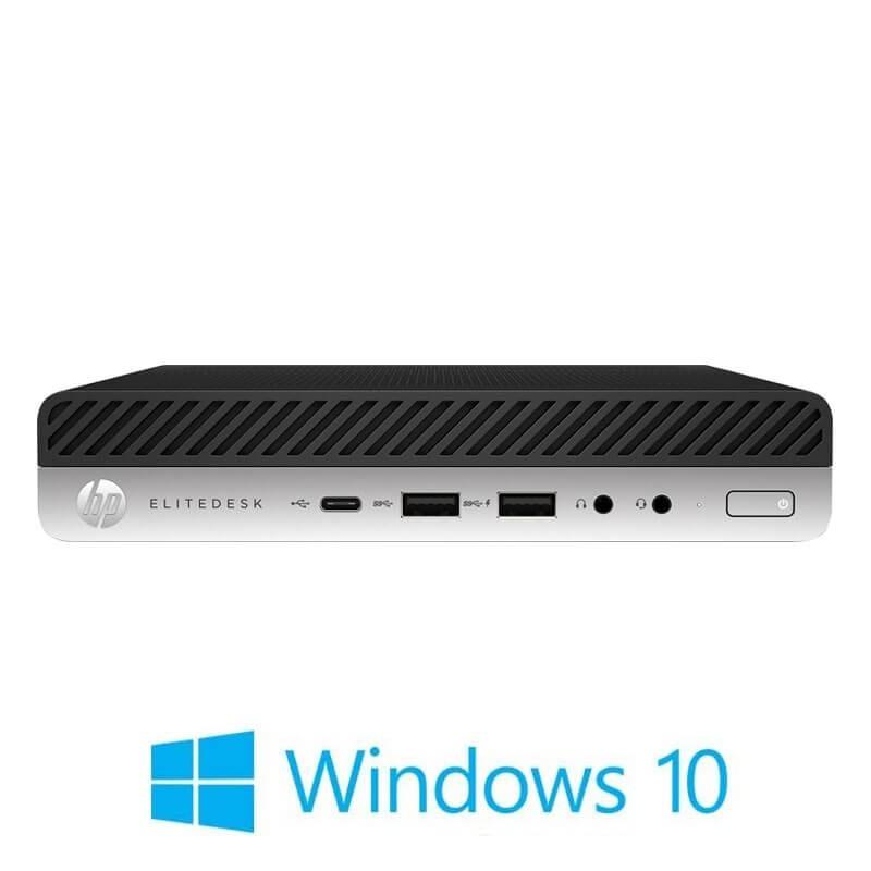 Mini Calculatoare HP EliteDesk 800 G3, Quad Core i5-7600, 8GB DDR4, 128GB SSD, Win 10 Pro