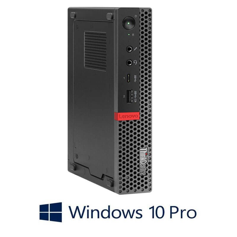 Mini Calculatoare Lenovo ThinkCentre M920q, Hexa Core i7-8700T, 256GB SSD, Windows 10 Pro