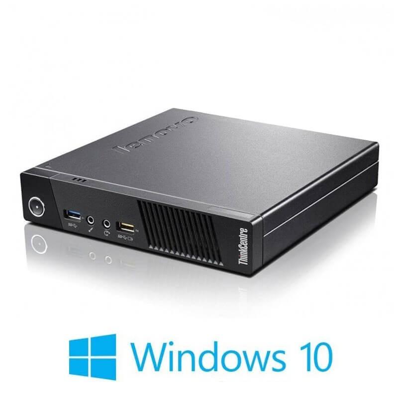 Mini Calculatoare Lenovo ThinkCentre M93, Quad Core i7-4785T, 8GB RAM, SSD, Win 10 Home