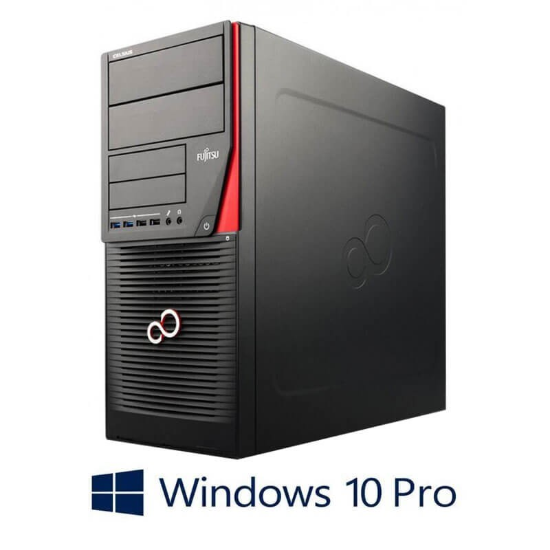 Statie grafica Fujitsu CELSIUS W530, Core i7-4790K, SSD, GeForce GT 240, Win 10 Pro