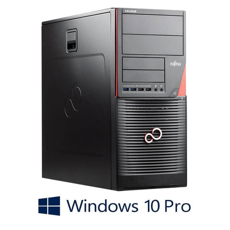 Statie grafica Fujitsu CELSIUS W550n, i7-6700T, 240GB SSD, Quadro K2200, Win 10 Pro