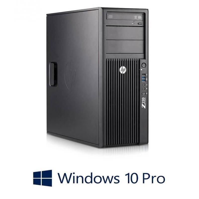 Statie grafica HP Z220 MT, Quad Core i7-3770, Quadro 2000 1GB 128-bit, Win 10 Pro