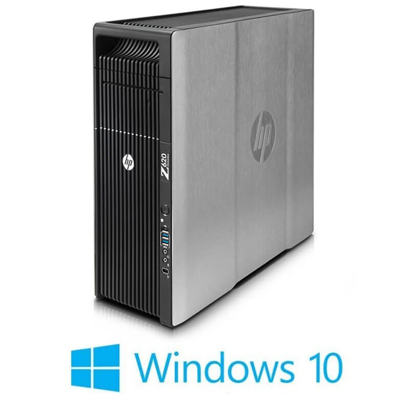 Statie grafica HP Z620, 2 x Xeon Quad Core E5-2643, 24GB, Quadro K2000, Win 10 Home