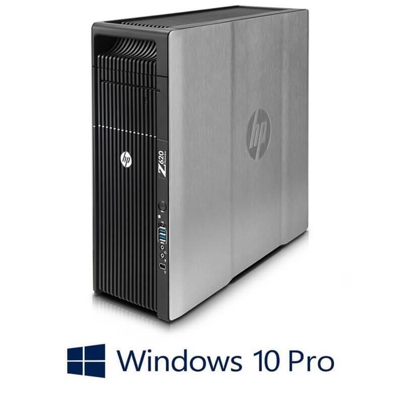 Statie grafica HP Z620, 2 x Xeon Quad Core E5-2643, 24GB, Quadro K2000, Win 10 Pro