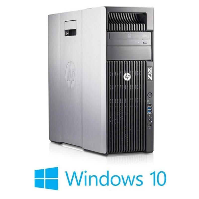 Statie grafica HP Z620, 2 x Xeon Quad Core E5-2643, 32GB, Quadro K4000, Win 10 Home