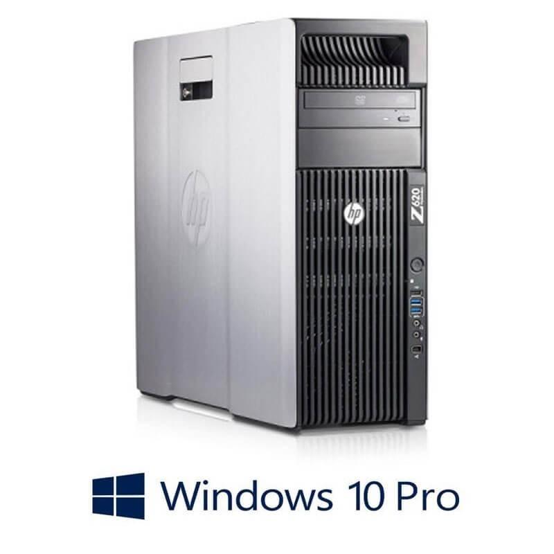 Statie grafica HP Z620, 2 x Xeon Quad Core E5-2643, 32GB, Quadro K4000, Win 10 Pro