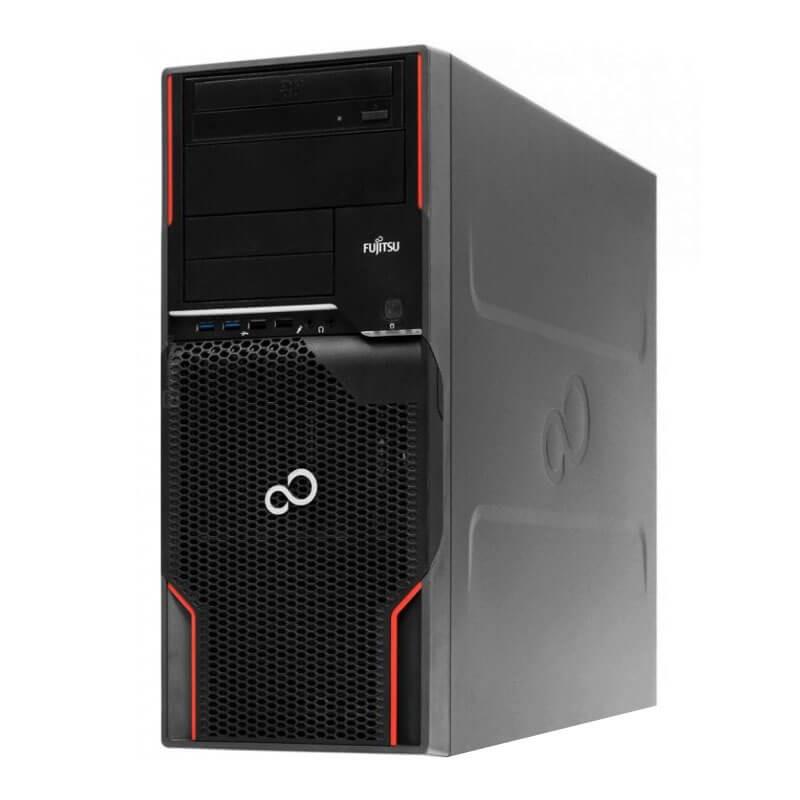Statie grafica second hand Fujitsu CELSIUS W520, Xeon E3-1225 v2, 128GB SSD, GeForce GT 240