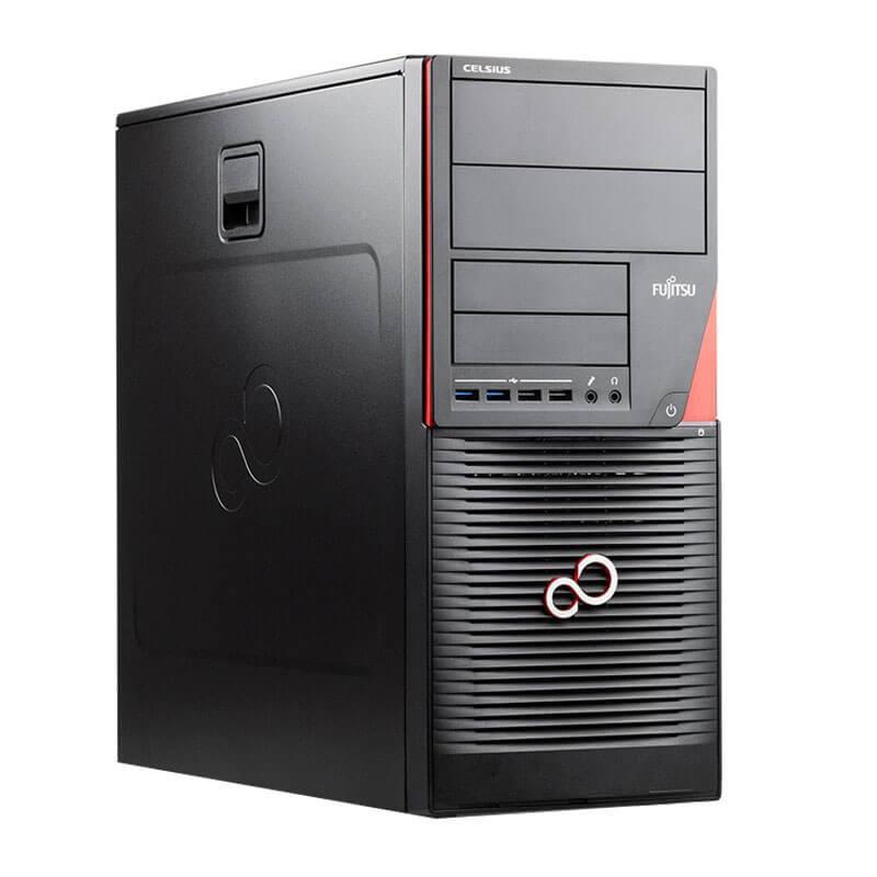 Statie grafica second hand Fujitsu CELSIUS W550n, Xeon E3-1220 v5, 512GB SSD, Quadro 4000