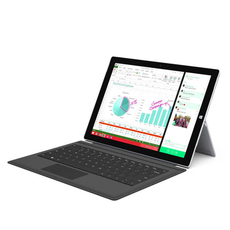 Tableta second hand Microsoft Surface Pro 3, Intel Core i3-4020Y, 12 inci, Grad A-, Webcam