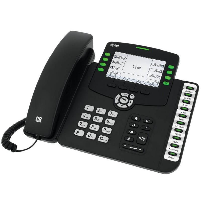 Telefon IP Tiptel 3240 HD, 6-line, 4.3 inch LCD